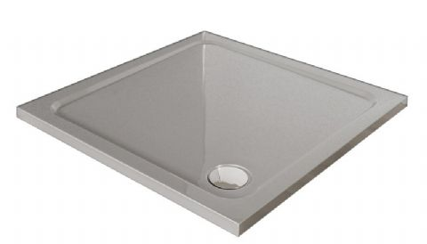 Premium Low Profile Silver Stone Resin Rectangular Shower Tray